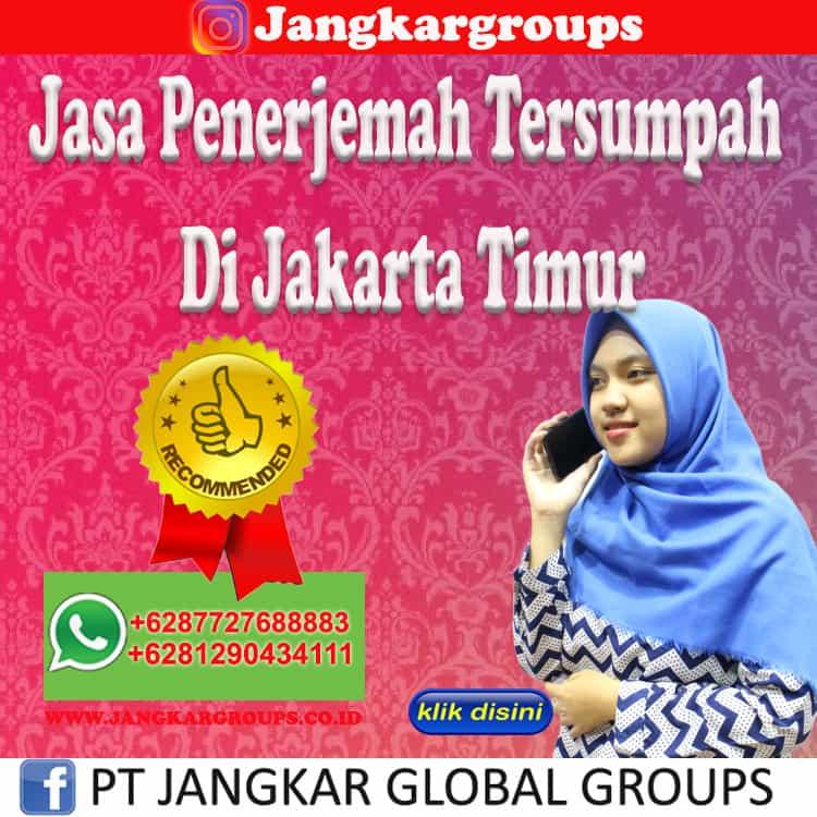 Jasa Penerjemah Tersumpah Di Jakarta Timur
