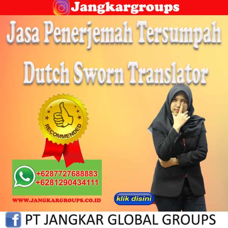 Jasa Penerjemah Tersumpah Dutch Sworn Translator