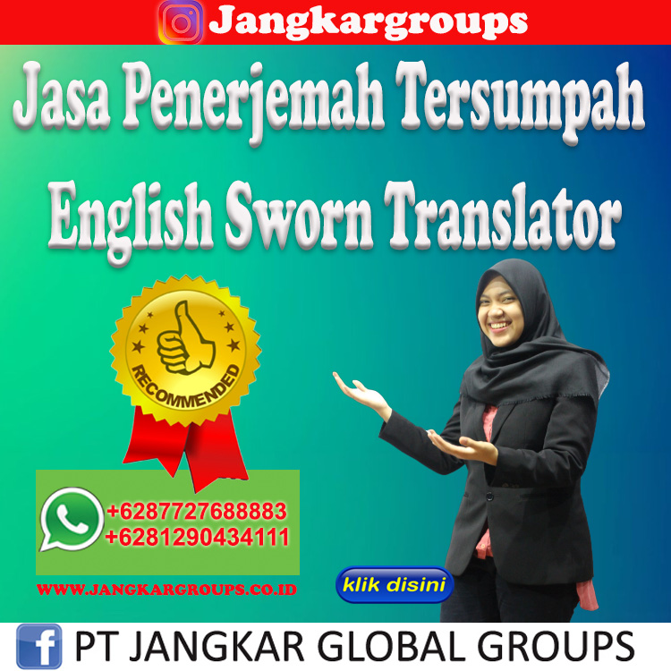 Jasa Penerjemah Tersumpah English Sworn Translator