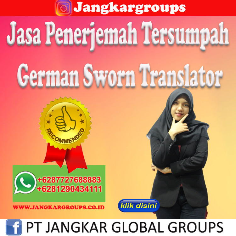 Jasa Penerjemah Tersumpah German Sworn Translator