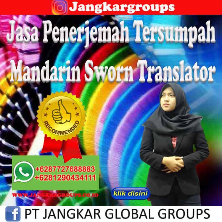 Jasa Penerjemah Tersumpah Mandarin Sworn Translator