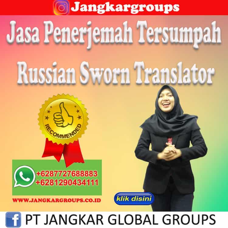 Jasa Penerjemah Tersumpah Russian Sworn Translator