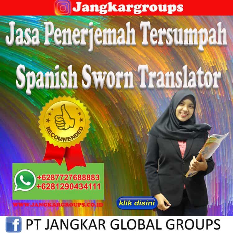 Jasa Penerjemah Tersumpah Spanish Sworn Translator