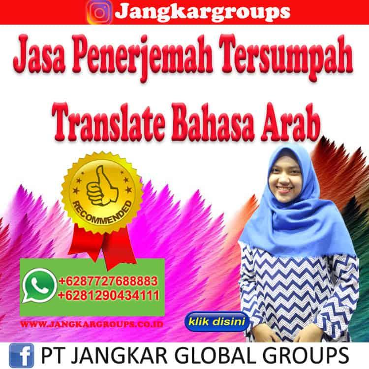 Jasa Penerjemah Tersumpah Translate Bahasa Arab