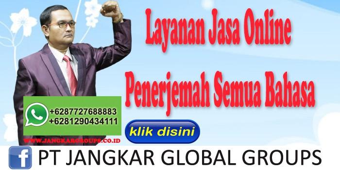 Layanan Jasa Online Penerjemah Semua Bahasa