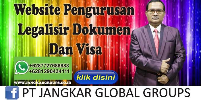Website Pengurusan Legalisir Dokumen Dan Visa