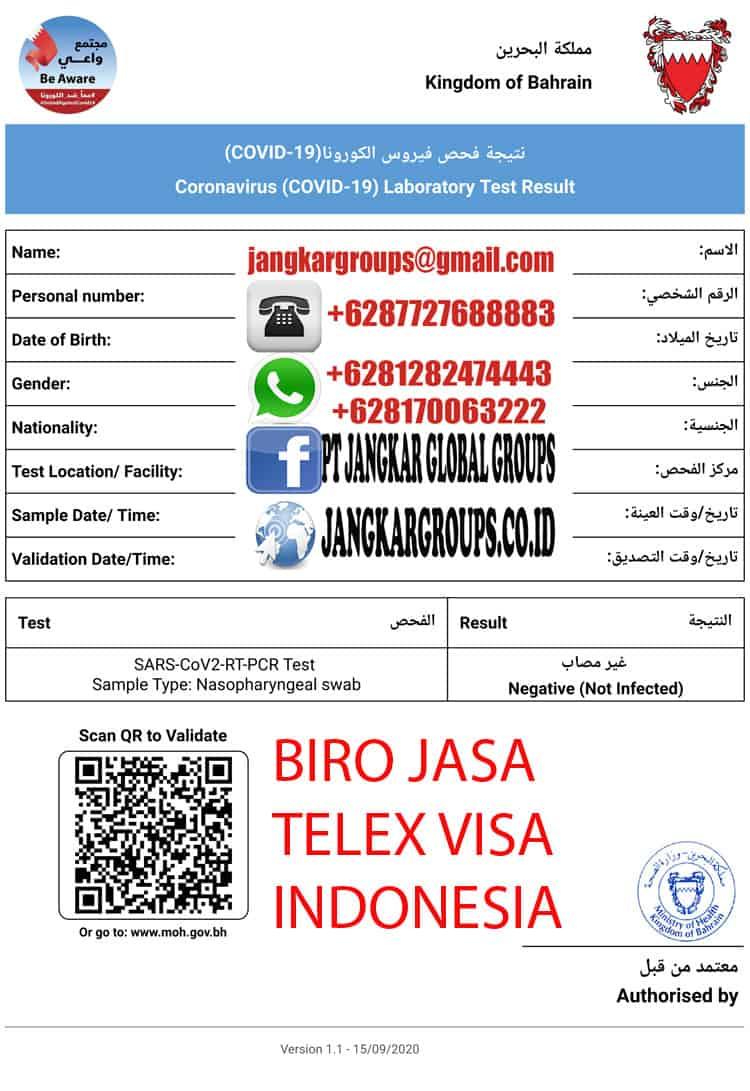 Contoh Surat Bebas Covid Bahrain
