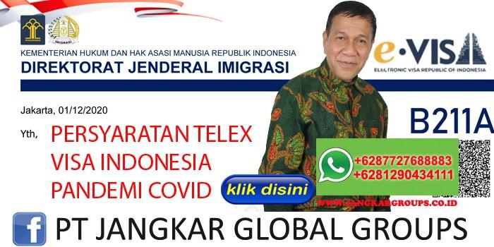 PERSYARATAN TELEX VISA INDONESIA PANDEMI COVID
