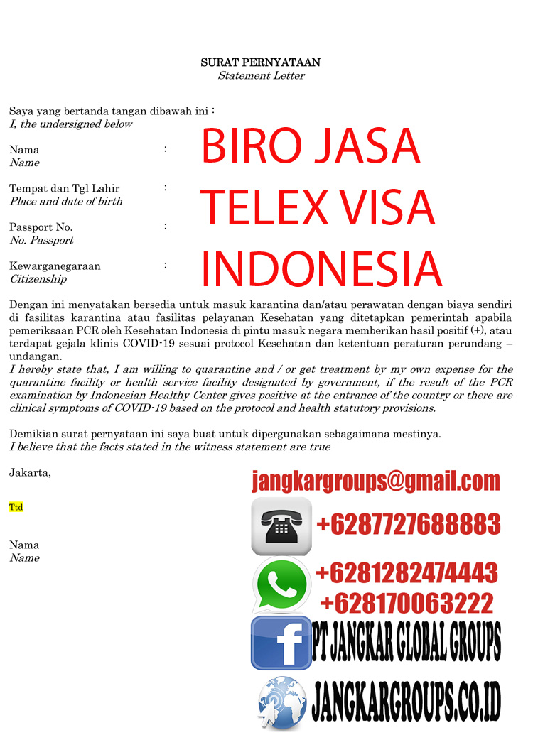 Statement Letter for Enter to Indonesia-1