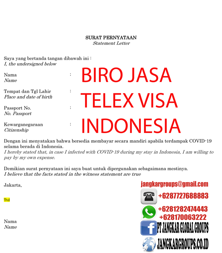 Statement Letter for Enter to Indonesia-3