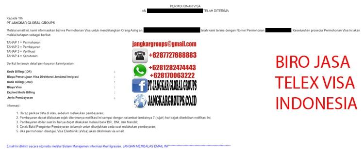 Status Permohonan Visa Indonesia