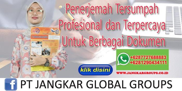 Penerjemah Tersumpah Profesional dan Terpercaya Untuk Berbagai Dokumen