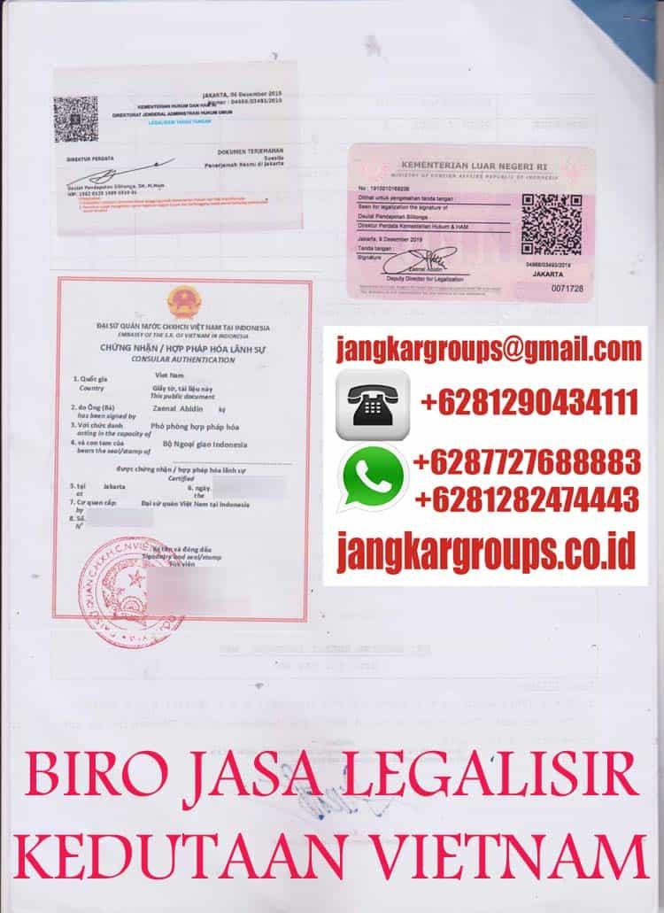 biro jasa legalisir ijazah kedutaan vietnam