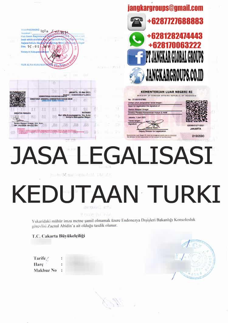 JASA LEGALISASI KEDUTAAN TURKI