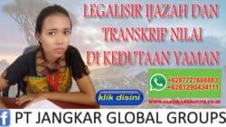 Legalisir ijazah dan transkrip kedutaan yaman