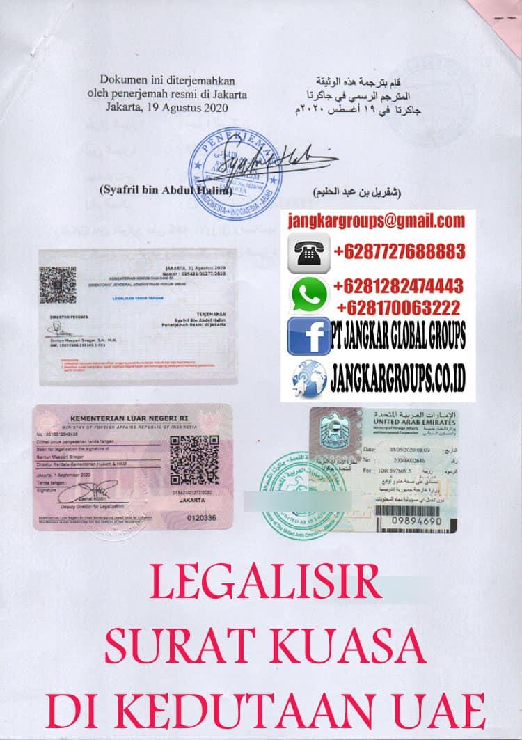 LEGALISIR SURAT KUASA DI KEDUTAAN UAE