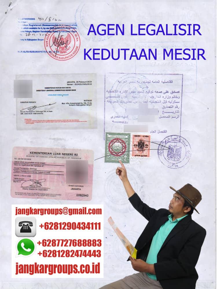 AGEN LEGALISIR KEDUTAAN MESIR