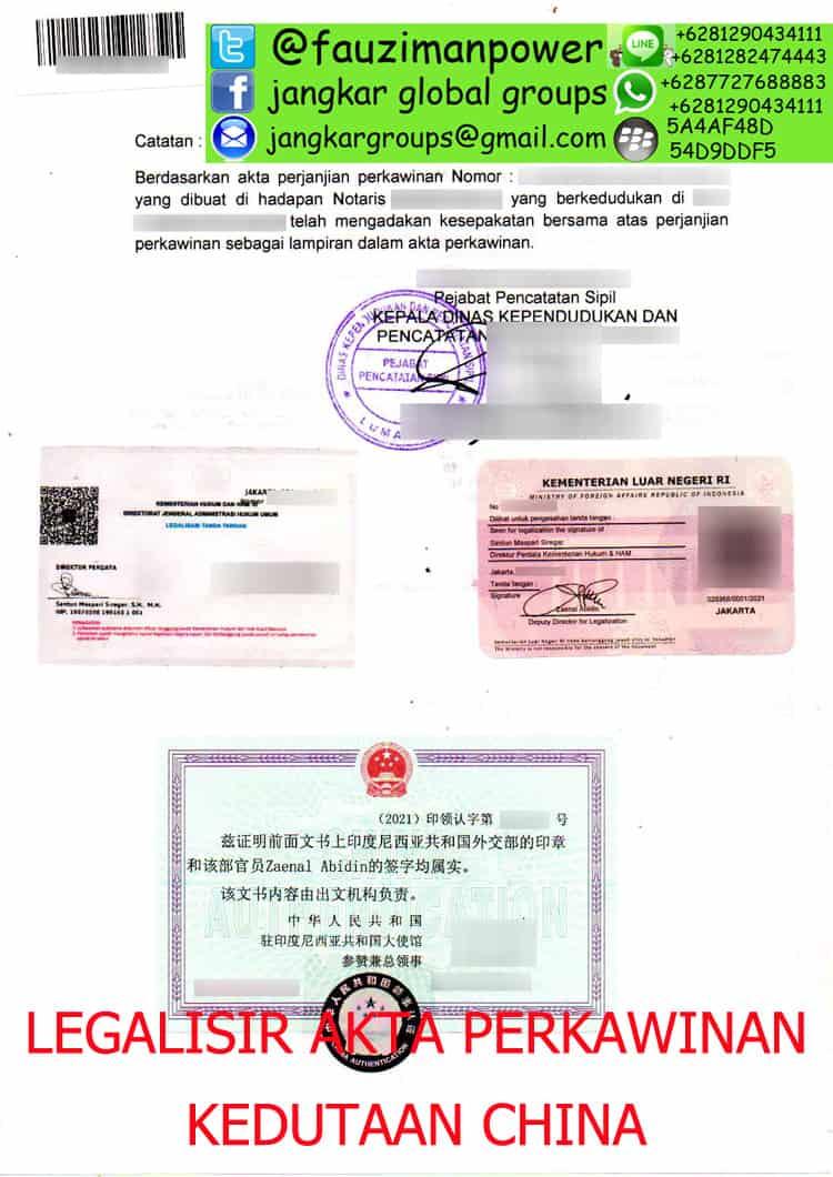 JASA LEGALISIR AKTA PERKAWINAN DI KEDUTAAN CHINA