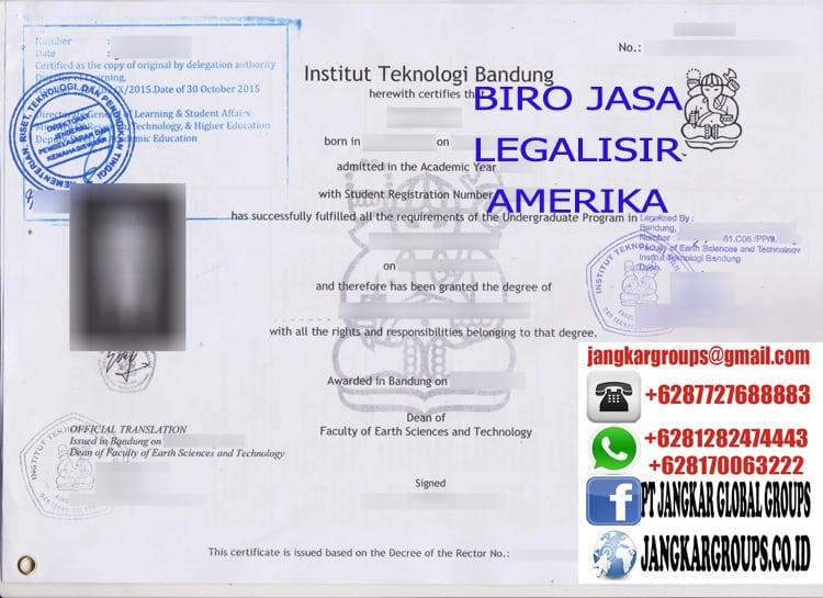 JASA LEGALISIR IJAZAH DI KEDUTAAN AMERIKA