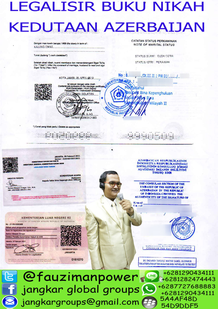 LEGALISIR BUKU NIKAH DI KEDUTAAN AZERBAIJAN