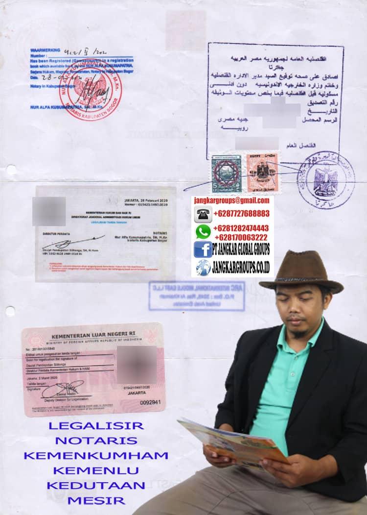 LEGALISIR KEDUTAAN MESIR