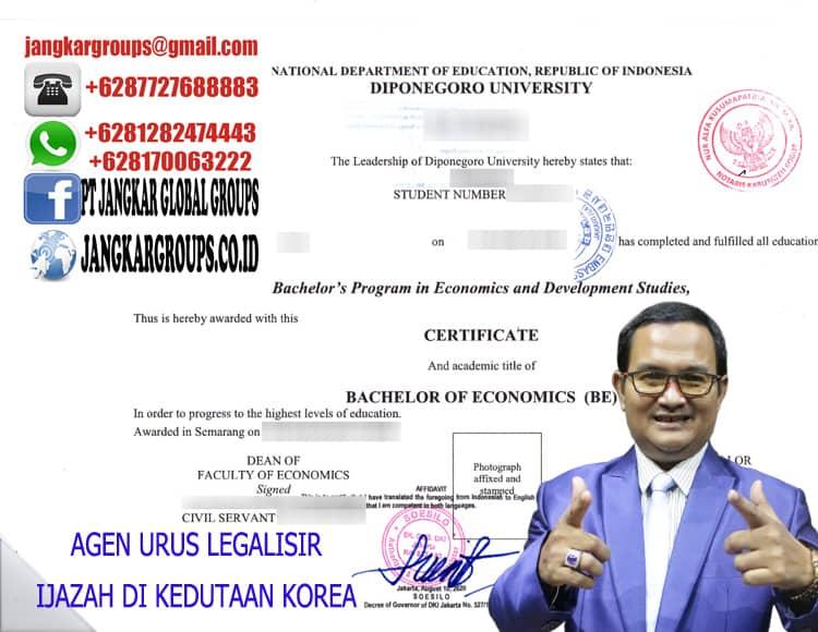 AGEN URUS LEGALISIR IJAZAH DI KEDUTAAN KOREA