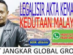 LEGALISIR AKTA KEMATIAN KEDUTAAN MALAYSIA
