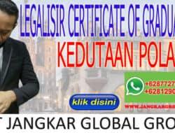LEGALISIR CERTIFICATE OF GRADUATION KEDUTAAN POLAND